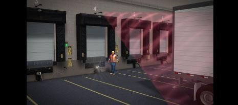 Đèn và âm thanh báo động an toàn cho khu vực xuất nhập hàng