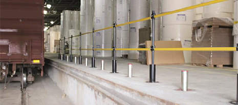 When are retractable safety barriers necessary?